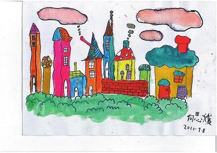 李皓/诗 向思媛/画 我们要按照自己的想法 盖房子 这些房子 只允许孩子们来住 家长们如果想来呀 你们就变成一片片云彩吧 眼巴巴地飘在天上 管不着我们 你们如果是彩色的 就允许你们多呆一会儿 因为我们只想 看到一张张笑脸 2018-06-24 00:00:00:0