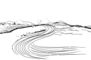 河流简笔画-朱巧玲的诗 2