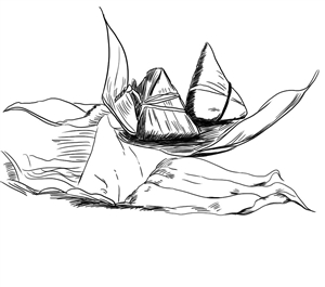 端午节的素描画-记忆中的石岩端午节图片